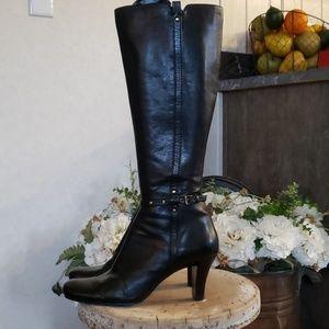 """Liz Claiborne flex """"Gorgeous"""" tall black boots 8.5"""